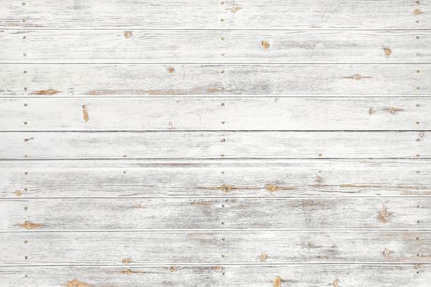 Fond de bois blanc vintage - vieille planche de bois patiné peint en couleur blanche.