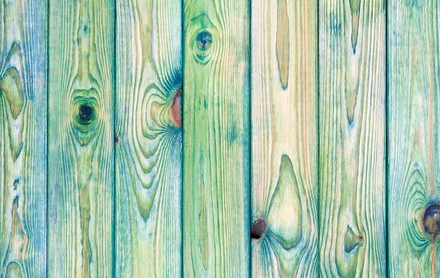 Fond en bois bleu clair et vert