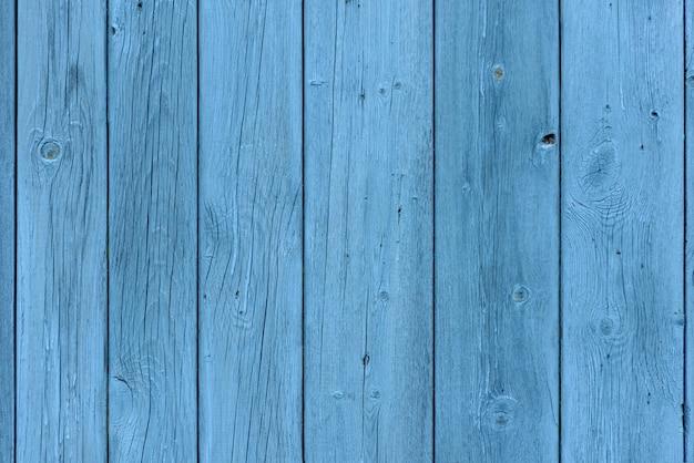 Fond en bois bleu, effet de l'âge, vieilles planches peintes en bleu clair