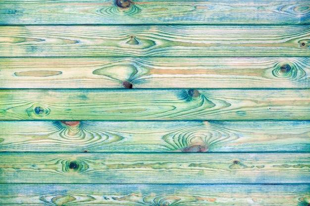 Fond en bois bleu et vert clair