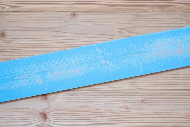 Fond en bois bleu vide avec espace de copie
