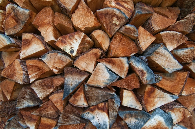 Fond de bois de chauffage