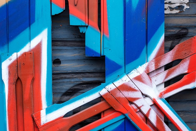 Fond de bois coloré, planches peintes dans la rue, fond texturé