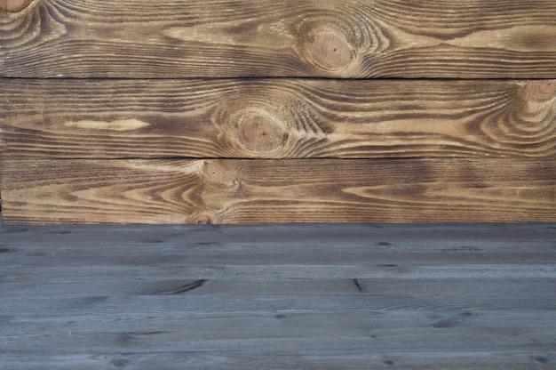Fond en bois coloré de planches de texture horizontale de deux types.