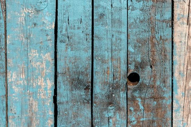 Fond en bois fait de vieilles planches de peinture bleue