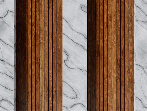 Fond en bois et marbre fin