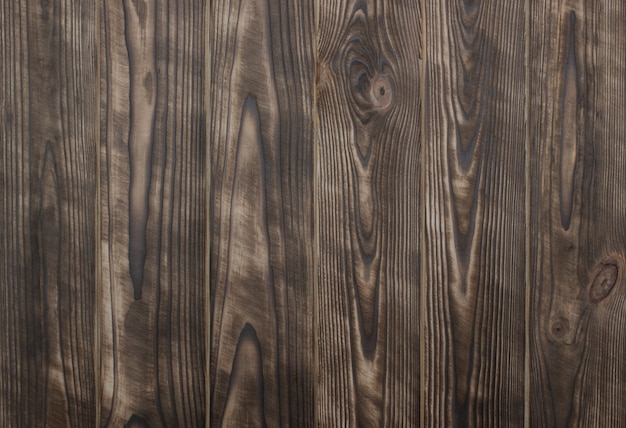 Fond en bois naturel rustique brun avec des planches brossées
