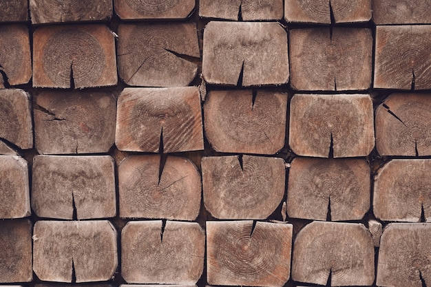 Fond en bois naturel. surface carrée en bois.