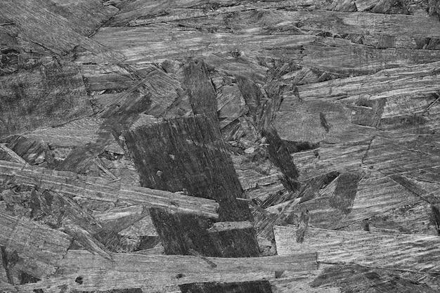 Fond en bois noir et blanc détaillé