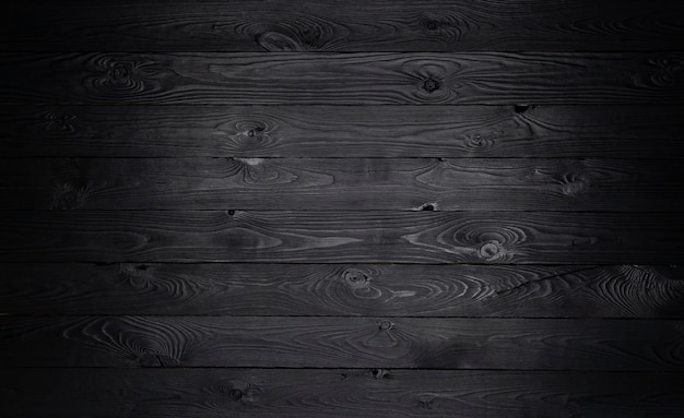 Fond en bois noir, texture de vieilles planches en bois