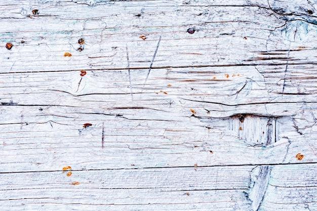 Fond de bois patiné minable blanc avec espace de copie pour le texte, design