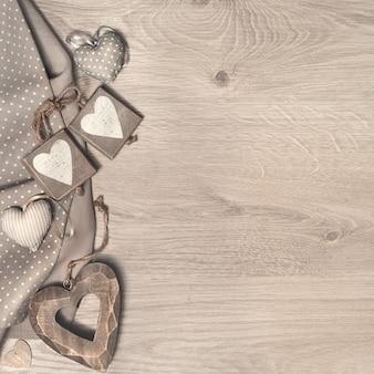 Fond en bois pour cartes de voeux saint valentin, fête des mères ou plus loin
