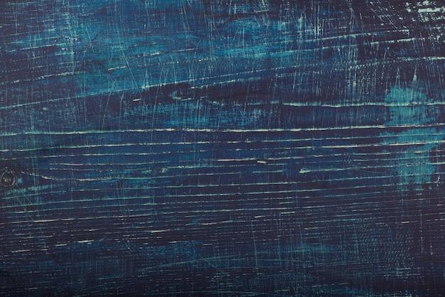 Fond boisé rustique bleu de planches de bois