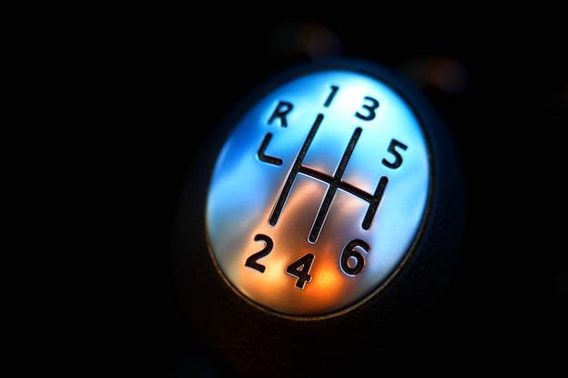 Fond de boîte de vitesses manuelle de bâton de vitesse de voiture