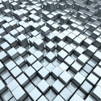Fond avec des boîtes en acier différentes abstraites