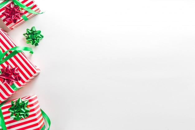 Fond de boîtes de cadeau de noël