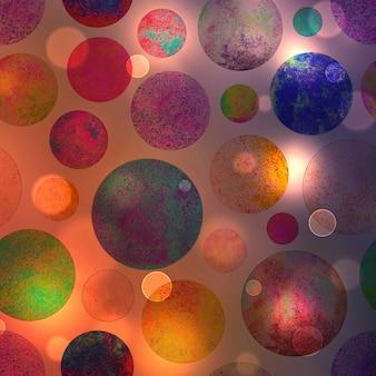 Fond de bokeh abstrait cercles colorés