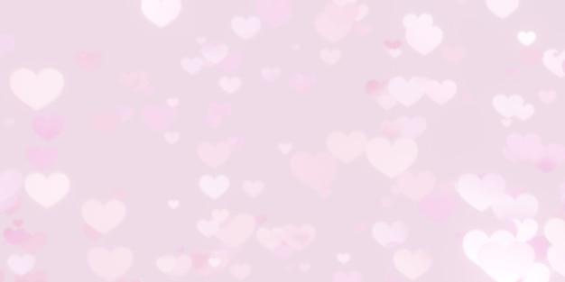 Fond de bokeh coeur rose. concept de la saint-valentin