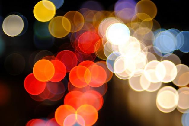 Fond de bokeh d'éclairage coloré