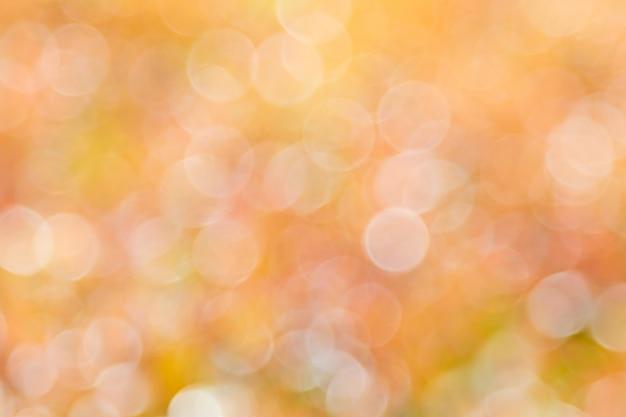 Fond de bokeh avec lumière naturelle, vert, jaune, orange avec flou