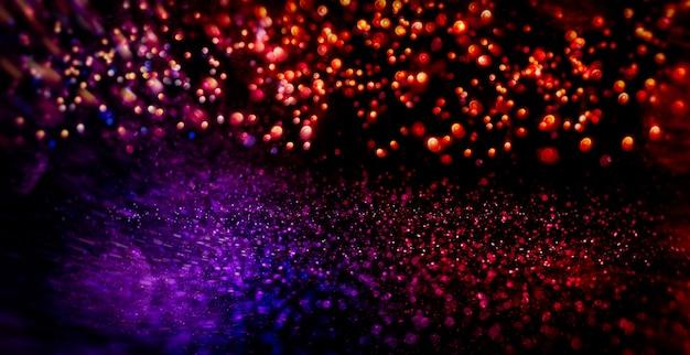 Fond de bokeh de lumières. fond de lumières vintage de paillettes avec des lumières défocalisées