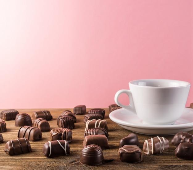 Fond de bonbons au chocolat