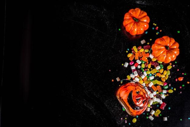Fond de bonbons d'halloween
