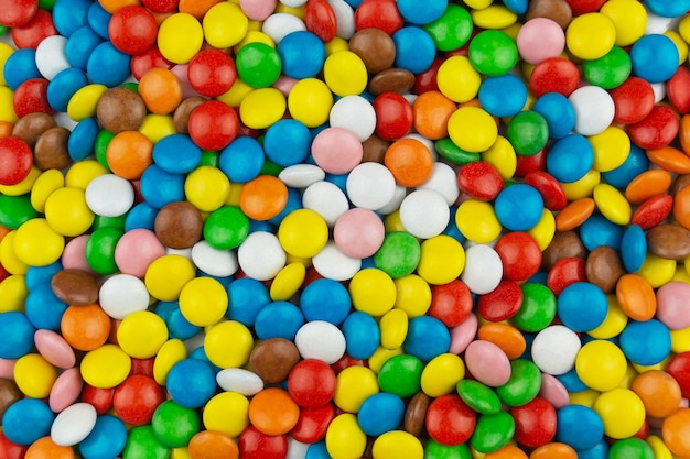 Fond de bonbons multicolores