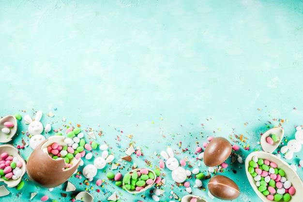 Fond de bonbons de pâques