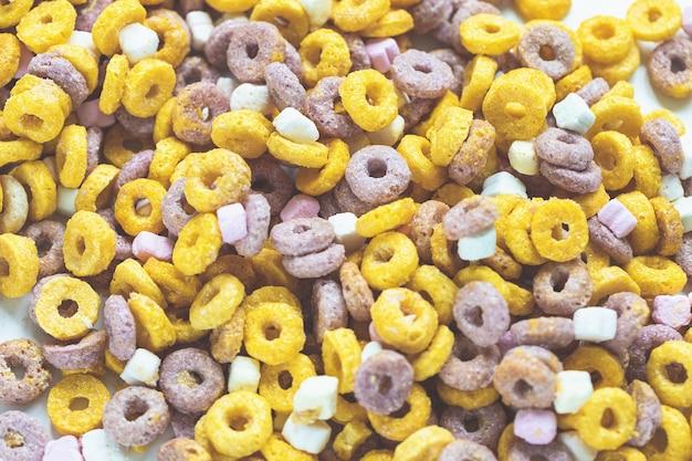 Fond de boucles de fruits multicolores se bouchent
