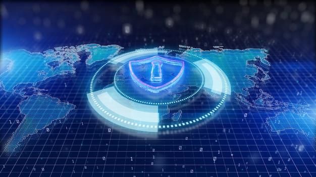 Fond de bouclier de cybersécurité