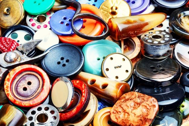 Fond de boutons de couture