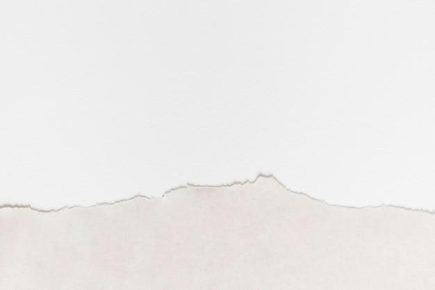 Fond de bricolage de cadre de bordure de papier blanc déchiré