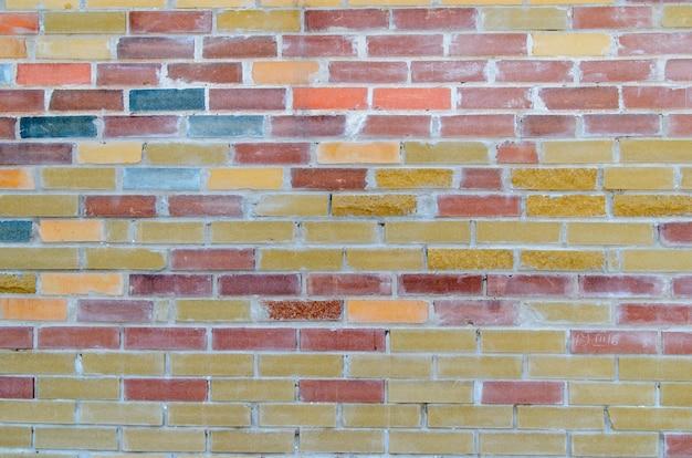 Fond de briques colorées