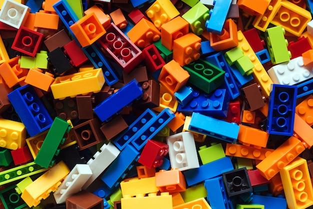 Fond de briques jouet coloré