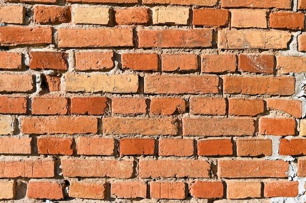 Fond de briques rouges. mur de briques.