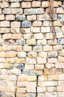 Fond de briques verticales