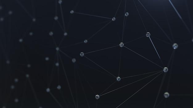 Fond avec des bulles ou des gouttes de rosée d'eau sur le web.