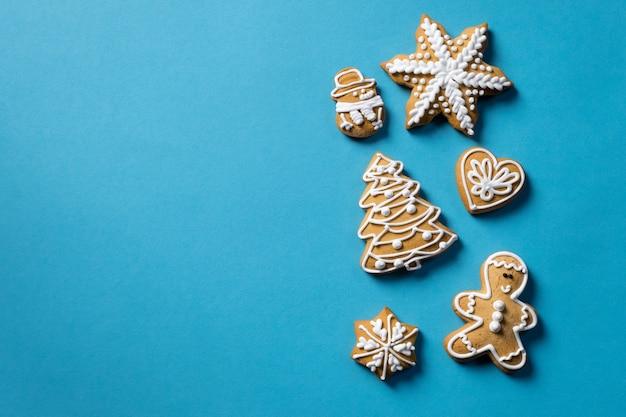 Fond de cadeau biscuit bleu