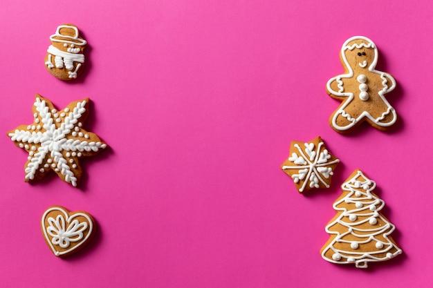 Fond De Cadeau De Biscuit Rouge Rose Photo Premium