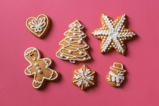 Fond de cadeau de biscuit rouge rose