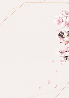 Fond de cadre floral rose blanc