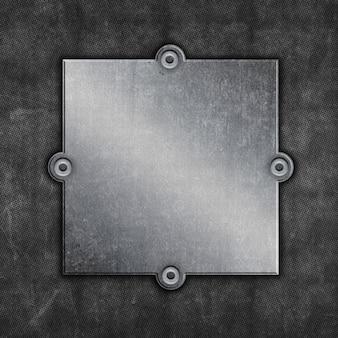 Fond de cadre métallique grunge