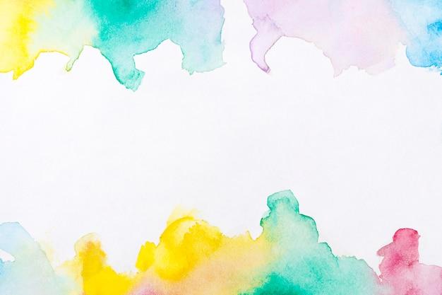 Fond de cadre de peinture à la main art aquarelle