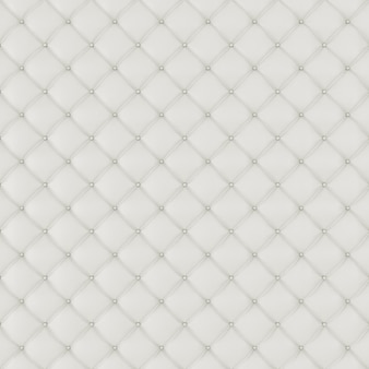 Fond de canapé en cuir d'ameublement. canapé de décoration de luxe blanc. texture de cuir blanc élégant avec des boutons pour le motif et l'arrière-plan. texture cuir pour ressource graphique, rendu 3d