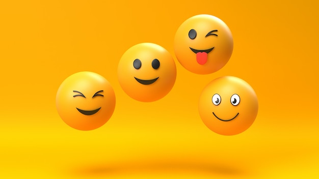 Fond de caractère émoticône emoji