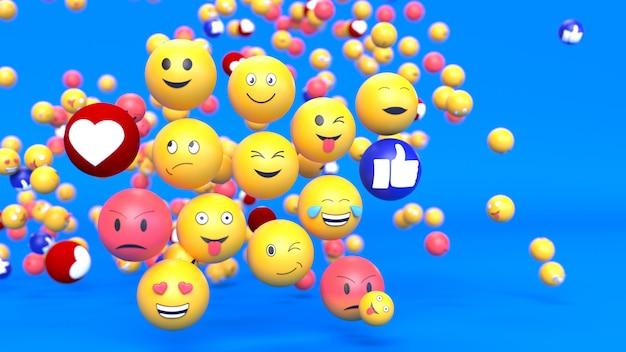 Fond De Caractère émoticône Emoji Photo Premium