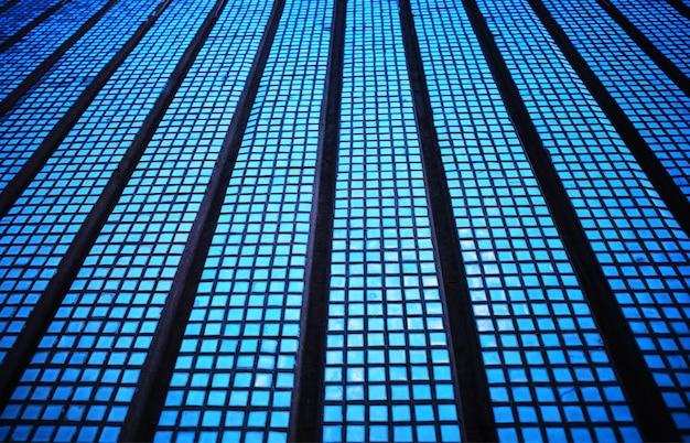 Fond de carreaux géométriques modernes bleu