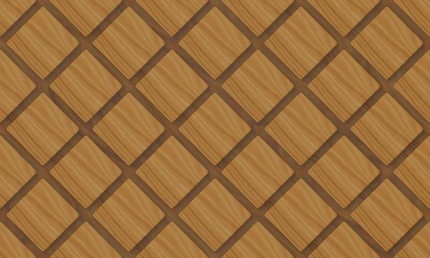 Fond de carreaux de grille carrée en bois moderne de seamels