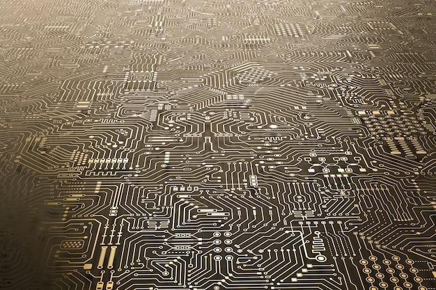 Fond de carte de circuit imprimé de rendu 3d ou fond de technologie